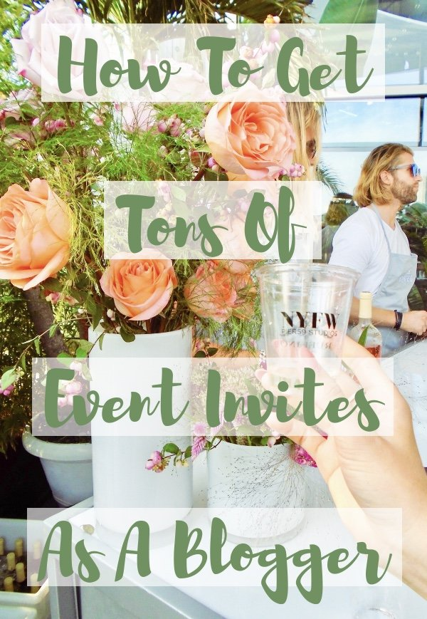 how to get invited to blogger influencer events