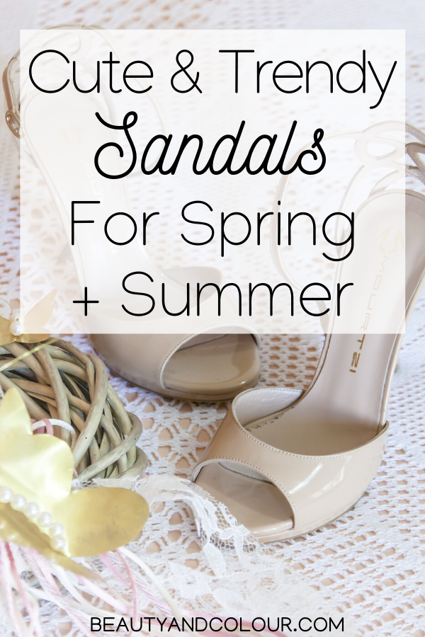 Cute Vegan Leather Sandals For Spring Summer