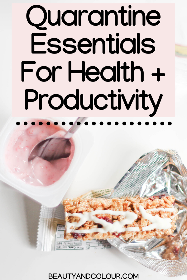 Vegan Quarantine Essentials For Staying Healthy Productive