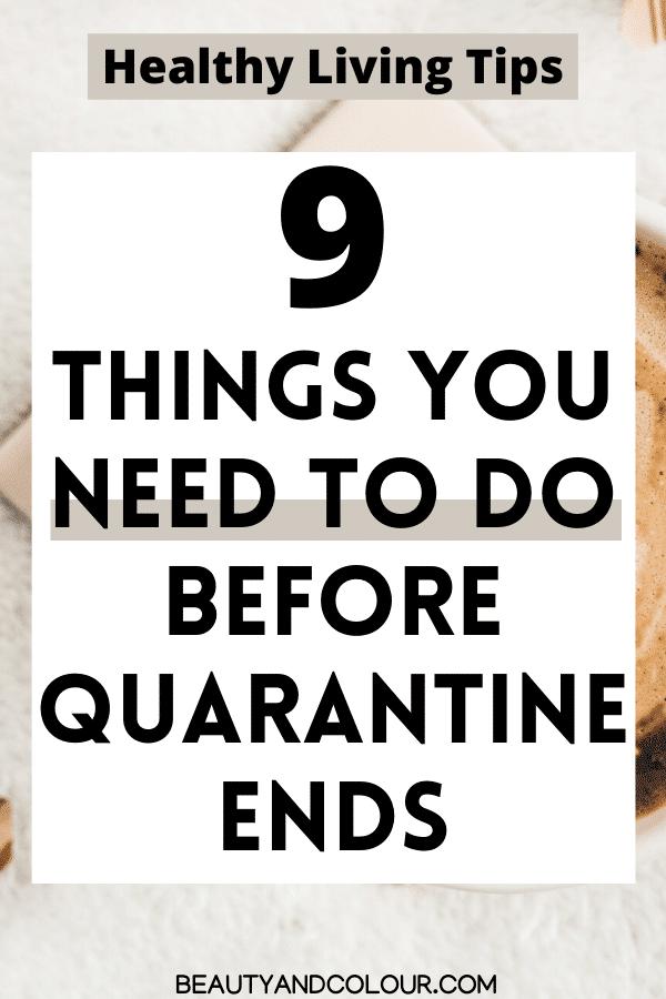 healthy living tips habits quarantine